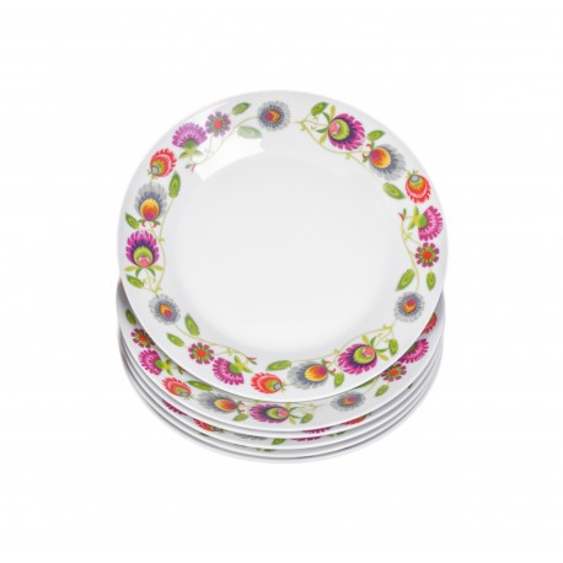 ETNO - zestaw 6 talerzy deserowych 19cm