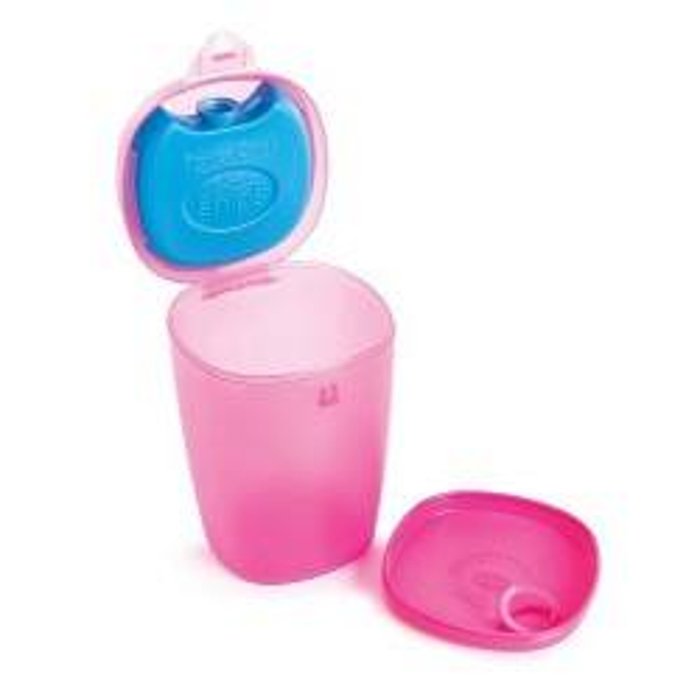 SNIPS ENERGY - pojemnik na owoce i jogurt z wkładem chłodzącym 0,5L różowy