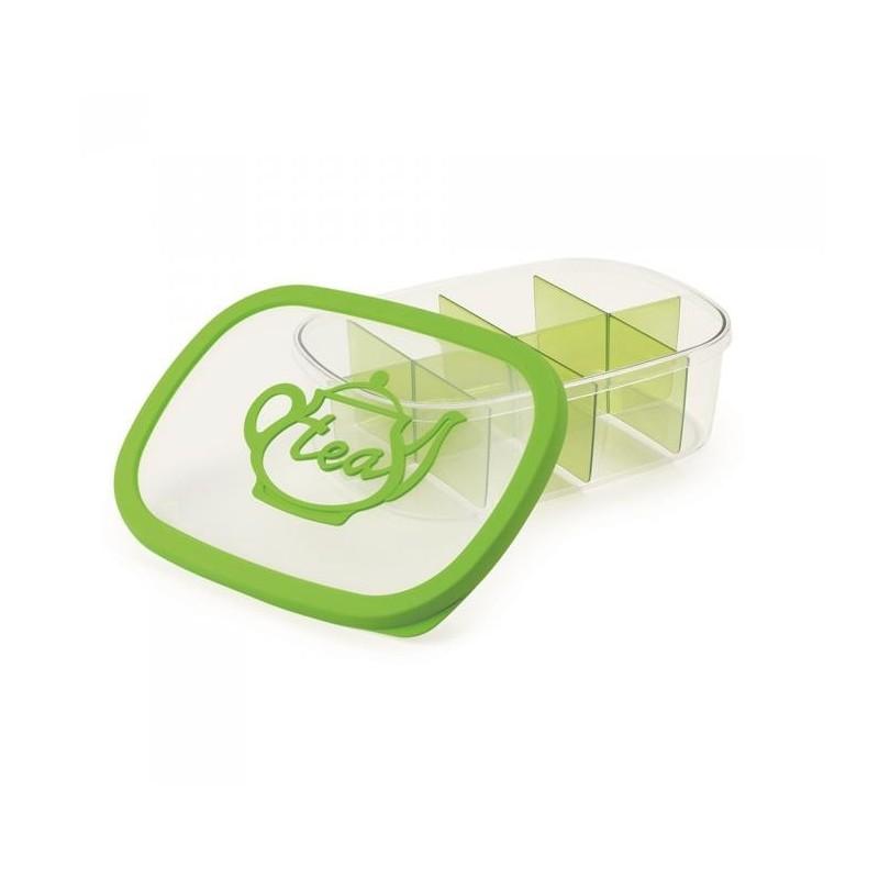 SNIPS AROMA TEA - pojemnik do przechowywania herbaty 3L zielony